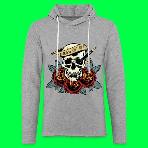 draw or die - Sweat-shirt à capuche léger unisexe