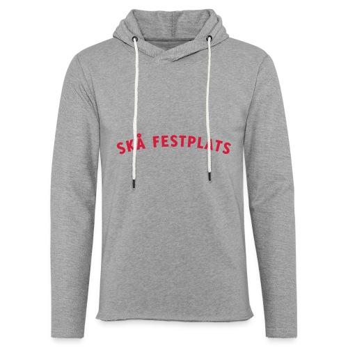 Skå Festplats Logotyp Röd - Lätt luvtröja unisex
