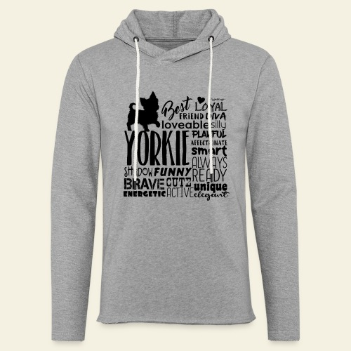 Yorkshire Terrier Words B - Kevyt unisex-huppari