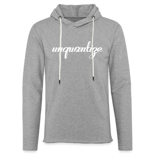 unquantize white logo - Light Unisex Sweatshirt Hoodie