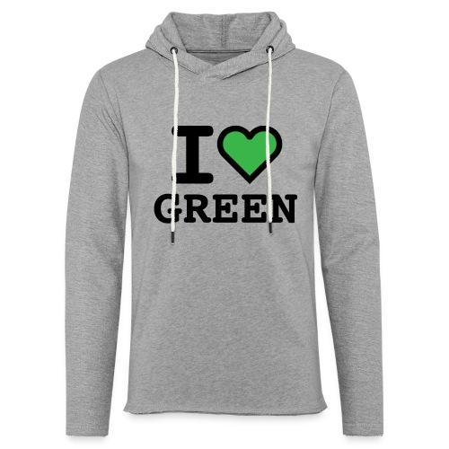 i-love-green-2.png - Felpa con cappuccio leggera unisex