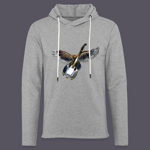 Greifvogel mitGitarrenbeute - Leichtes Kapuzensweatshirt Unisex