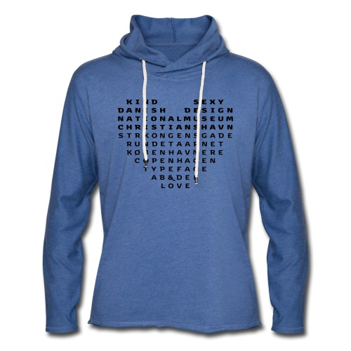 Copenhagen Heart - Let sweatshirt med hætte, unisex
