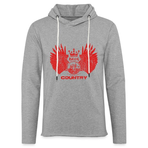 IH KING of the COUNTRY (Red design) - Lichte hoodie unisex
