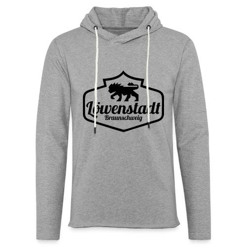 Löwenstadt Design 1 schwarz - Leichtes Kapuzensweatshirt Unisex