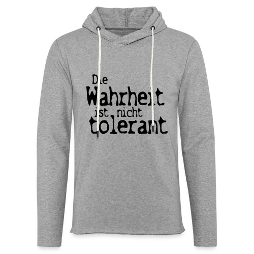 tolerant (JESUS-shirts) - Leichtes Kapuzensweatshirt Unisex