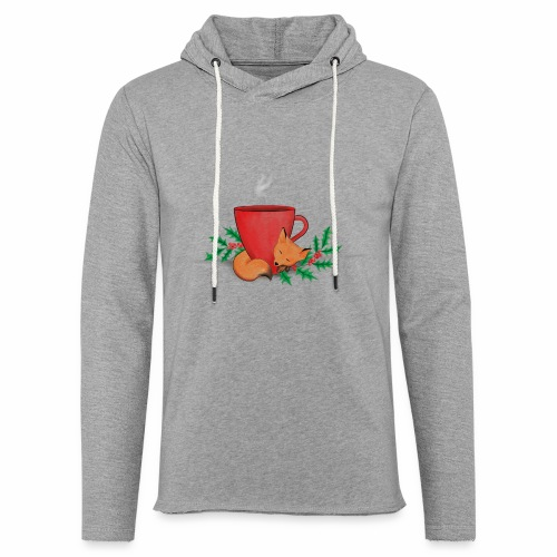 Świąteczny lisek - Lekka bluza z kapturem