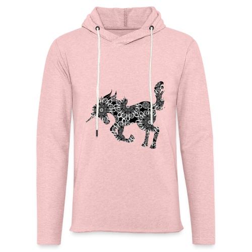 Einhorn Zen Muster - Leichtes Kapuzensweatshirt Unisex