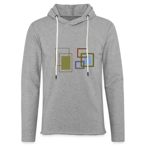 Quadratisch - Leichtes Kapuzensweatshirt Unisex