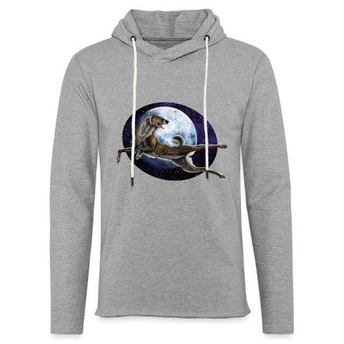 Galaxy Wolf - Leichtes Kapuzensweatshirt Unisex