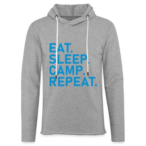 EAT. SLEEP. CAMP. REPEAT. - Leichtes Kapuzensweatshirt Unisex