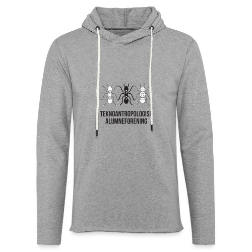 Teknoantropologisk Støtte T-shirt figur syet - Let sweatshirt med hætte, unisex