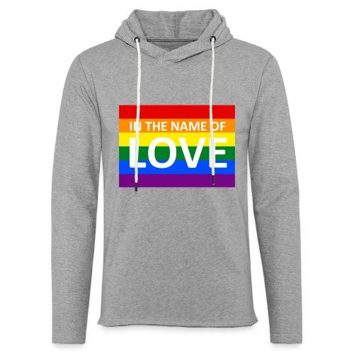IN THE NAME OF LOVE RETRO T-SHIRT - Let sweatshirt med hætte, unisex