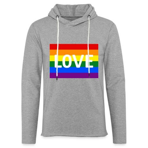 LOVE SHIRT - Let sweatshirt med hætte, unisex