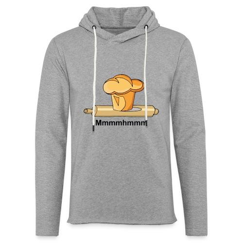 Brioche française et rouleau à patisserie - Sweat-shirt à capuche léger unisexe