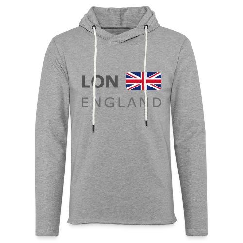 LON ENGLAND BF dark-lettered 400 dpi - Light Unisex Sweatshirt Hoodie