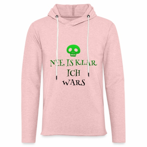 Nee, is klar ich...totenk - Leichtes Kapuzensweatshirt Unisex