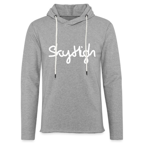 SkyHigh - Women's Hoodie - White Lettering - Light Unisex Sweatshirt Hoodie
