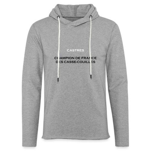 design castres - Sweat-shirt à capuche léger unisexe