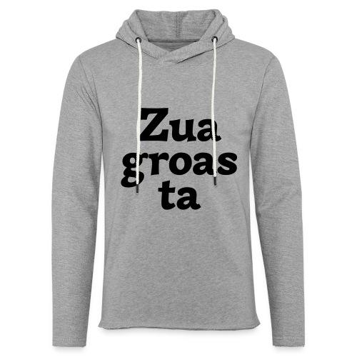 Zuagroasta - Leichtes Kapuzensweatshirt Unisex