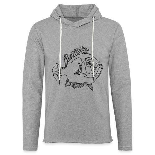 Fisch Barsch Ozean Meer Wasser Aquarium Angeln - Leichtes Kapuzensweatshirt Unisex