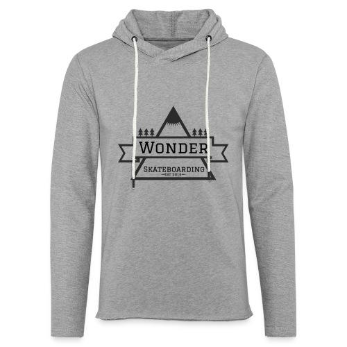 Wonder hoodie no hat - Mountain logo - Let sweatshirt med hætte, unisex