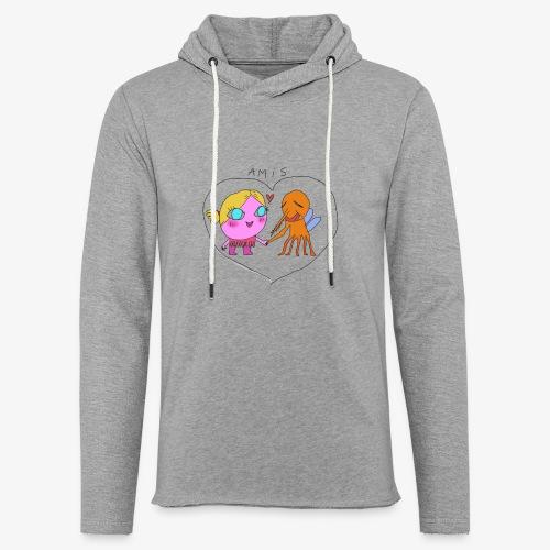 les meilleurs amis - Sweat-shirt à capuche léger unisexe