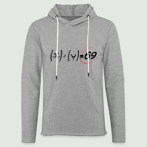 69 - Sweat-shirt à capuche léger unisexe