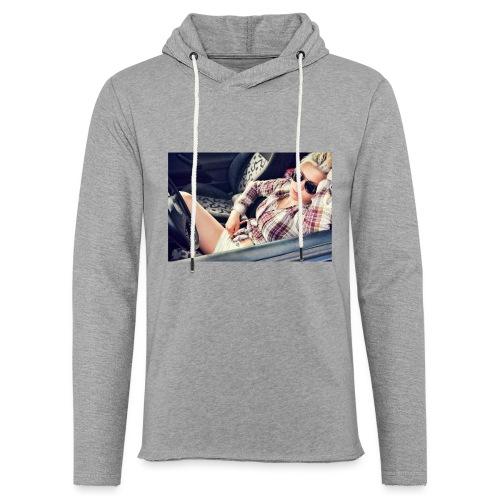 Cool woman in car - Light Unisex Sweatshirt Hoodie