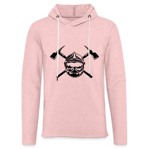 casque_pompier_2 haches - Sweat-shirt à capuche léger unisexe
