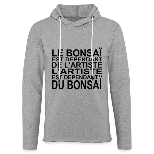 bonsai_dependant_de_lartiste - Sweat-shirt à capuche léger unisexe