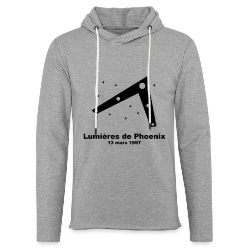 OVNI Lumieres de Phoenix - Sweat-shirt à capuche léger unisexe