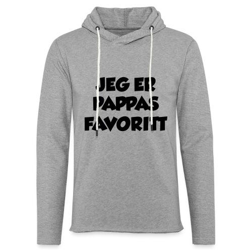 «Jeg er pappas favoritt» (fra Det norske plagg) - Lett unisex hette-sweatshirt