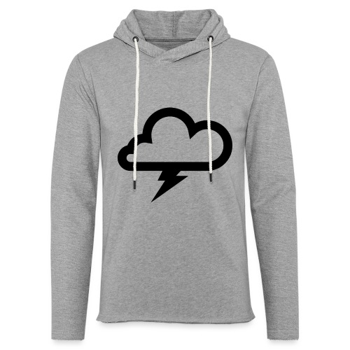 Wolke mit Blitz - Leichtes Kapuzensweatshirt Unisex