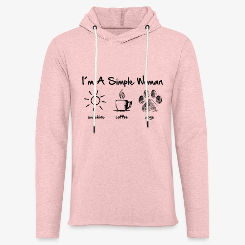 simple woman dog - Leichtes Kapuzensweatshirt Unisex