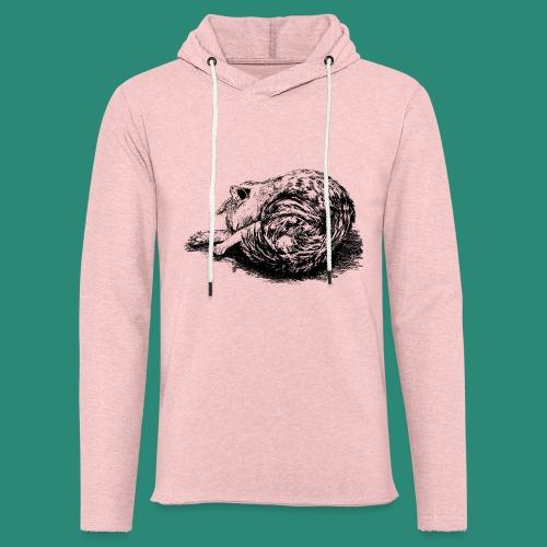 schlafende Katze - Leichtes Kapuzensweatshirt Unisex