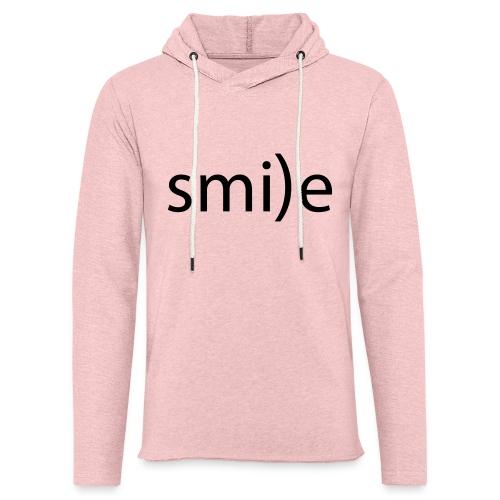 smile Emoticon lächeln lachen Optimist positiv yes - Light Unisex Sweatshirt Hoodie
