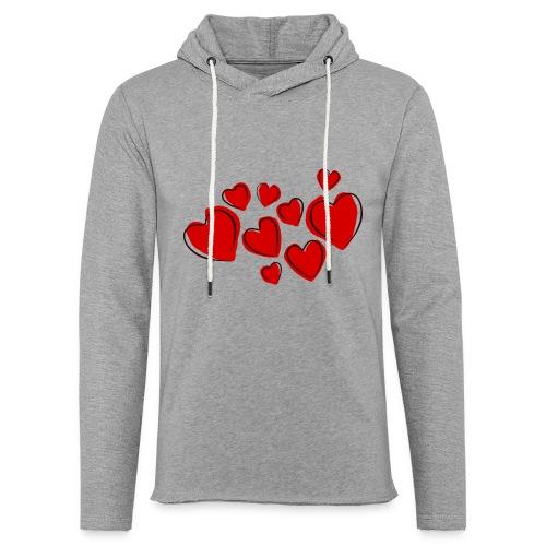 hearts herzen - Leichtes Kapuzensweatshirt Unisex