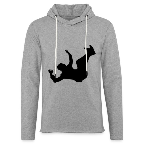 Fallender Mann - Leichtes Kapuzensweatshirt Unisex