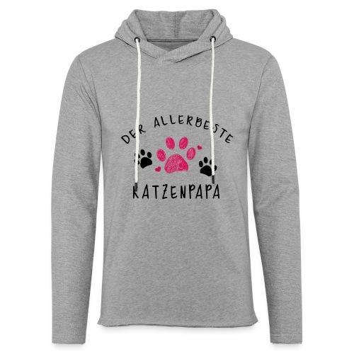 Der allerbeste Katzenpapa - Leichtes Kapuzensweatshirt Unisex