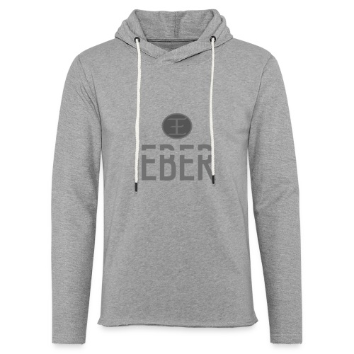 EBER: T-Shirt - White - Lätt luvtröja unisex