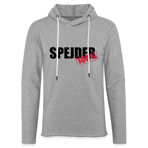 100procent spejder stempel - Let sweatshirt med hætte, unisex