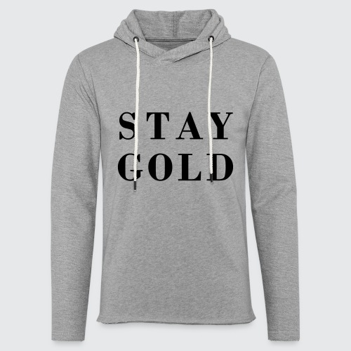 stay gold - Leichtes Kapuzensweatshirt Unisex