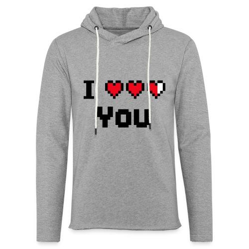 I pixelhearts you - Lichte hoodie unisex