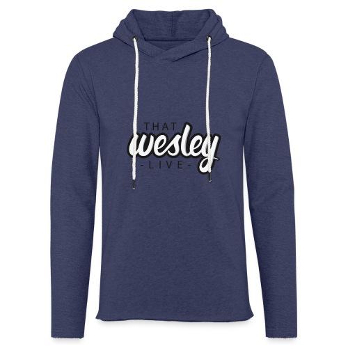 ThatWesleyLOGO 3 4 png - Lichte hoodie unisex