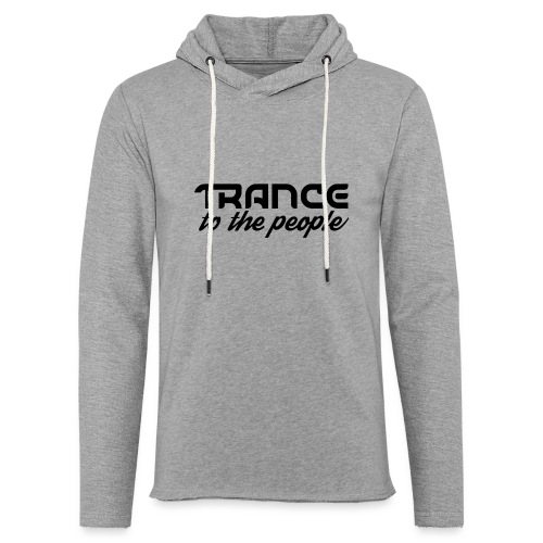 Trance to the People Sort Logo - Let sweatshirt med hætte, unisex