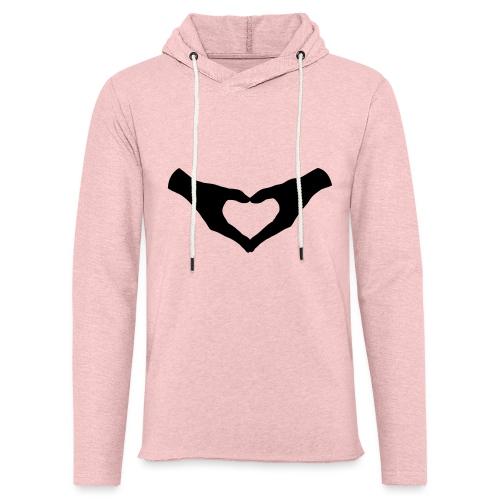 Herz Hände / Hand Heart 2 - Leichtes Kapuzensweatshirt Unisex