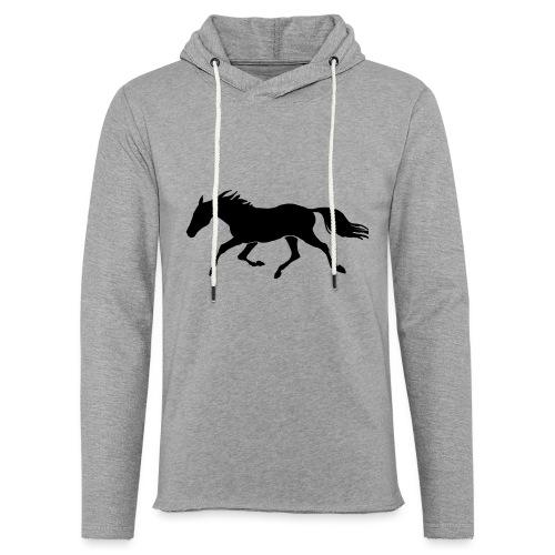 Cavallo - Felpa con cappuccio leggera unisex