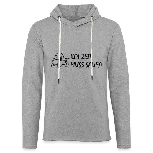 KoiZeit Saufa - Leichtes Kapuzensweatshirt Unisex