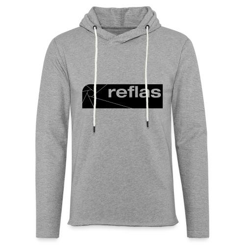Reflas Clothing Black/Gray - Felpa con cappuccio leggera unisex